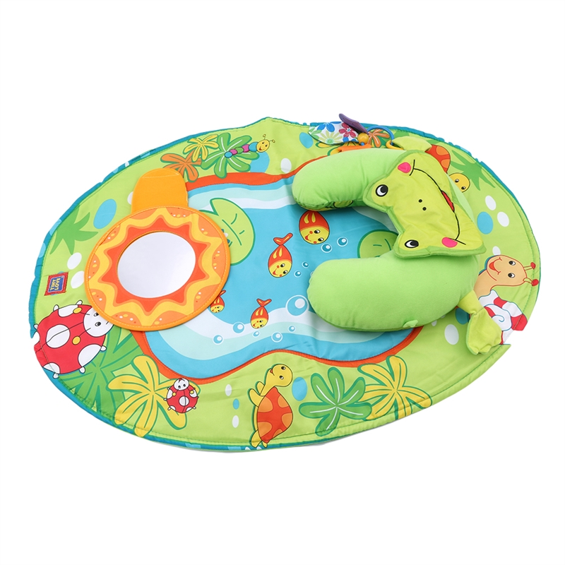 Baby Play Mat Thick Crawling Mat With Pillow Surface Baby Carpet Rug  Developing Mat For Children Haha Mirror Game Pad
