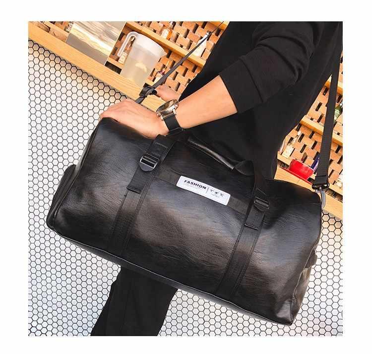 Bolsa de viaje de negocios de PU de gran capacidad bolsa de equipaje de corta distancia bolsa de gimnasio