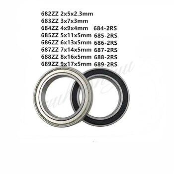 5-10pcs 682ZZ 683ZZ 684ZZ 685ZZ 686ZZ 687ZZ 688ZZ 689ZZ Mini Bearing Metal Sealed Miniature Bearing Ball Bearings 685zz bearing abec 5 10pcs 5x11x5 mm miniature 685 zz ball bearings 618 5zz emq z3v3 quality