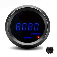 Car-Tacho-Gauge Tachometer Digital Display Warning-Light Automobile 52mm LED for 12V