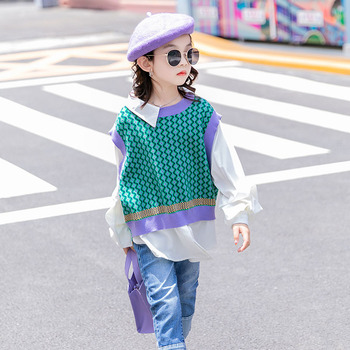 7 seconds fish Toddler Girls Fleece Soft Warm Sweater 3-12Y Hot Boutique Top Clothing Children Spring Autumn Winter Wear