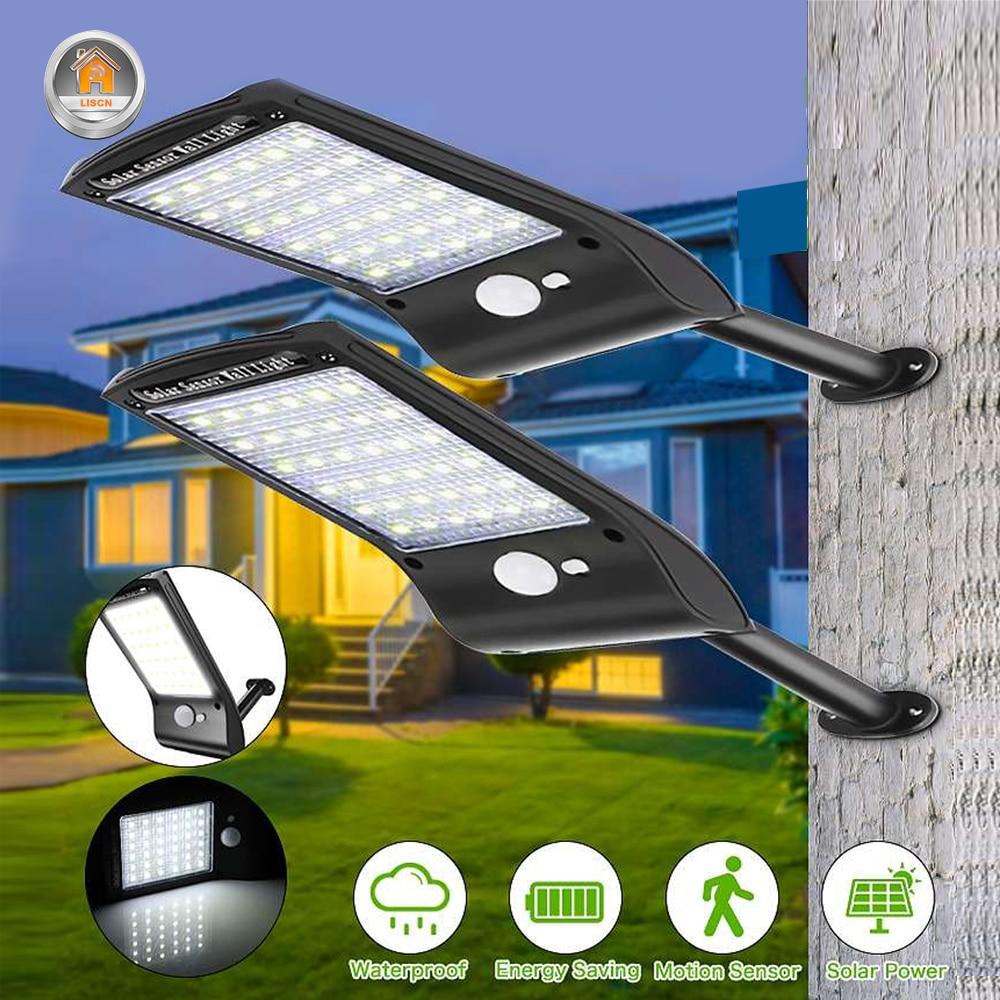 ไฟ LED พลังงานแสงอาทิตย์กันน้ำกลางแจ้งฉุกเฉินโคมไฟพลังงานแสงอาทิตย์ PIR Motion Sensor โคมไฟติดผนังรั้...