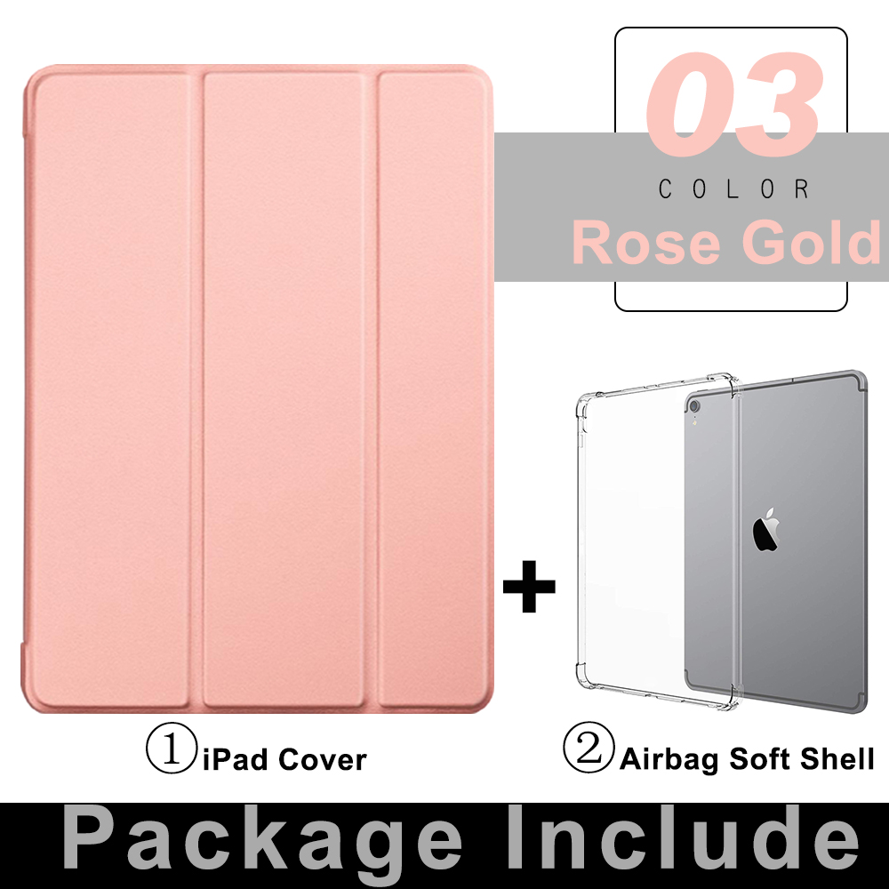 3 Rose Gold Silver For iPad Pro 11 Flip Tablet Case 2021 Stand Smart Cover Funda For iPad pro 11