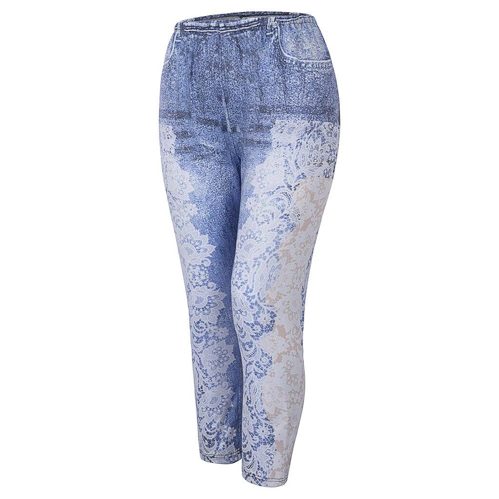 Hfe36346eb44a4c4ebd5afb3c0171ce05k Jaycosin New Fashion Ladies Casual Lmitation Cowboy Pocket Jeans Elastic Stretch Thin Female Soft Loose Leggings Pants 10#4