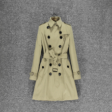 Long coat in European and American British style slim trench