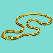 Moda erkek 925 gümüş kolye yüzey 24k altın kırbaç kolye tasarımı 8mm60cm boyutu altın dolu çekicilik takı güzel yaka