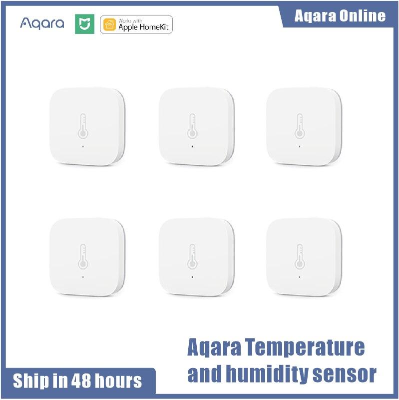 Aqara умный датчик давления воздуха и влажности окружающей среды Aqara работает для дома Xiaomi Android IOS APP Control Homekit