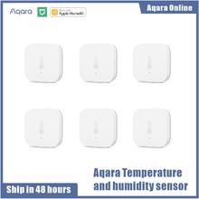 Aqara inteligentne ciśnienie powietrza temperatura wilgotność środowisko Aqara czujnik praca dla Xiaomi Home Android IOS APP Control Homekit tanie tanio WSDCGQ11LM Ready-to-go SOLAR MAGNETIC 8 kanałów Zigbee CR2032