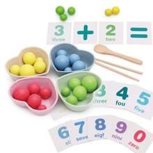 1 комплект детские деревянные палочки для еды игрушки математика