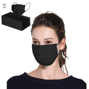 Mouth-Mask Disposable Anti-Pollution Black Cotton 3-FILTER Scione Carb Activated