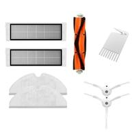 8Pcs Adequado Para Xiaomi Roborock S50 S51 Robô Aspirador de Peças De Reposição Kits Panos de Esfregão Esfregar Molhado Do Lado Do Filtro escova de Rolo|Peças p/ aspirador de pó| |  -