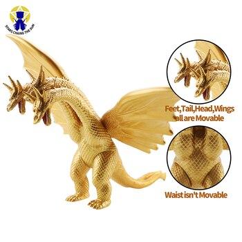 цена на 20cm Big Kaiju Anime Action Figures Mech Skeleton Dinosaur Figure PVC Figure Toy Brinquedos For Boy Gift Model Collection Toys