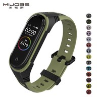 X style strap For Mi Band 3 4 5 Sport Strap watch Silicone wrist Bracelet For xiaomi mi band 3 4 bracelet Miband 5 4 3 Strap