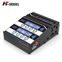 HTRC H120 סוללה מטען כפול פלט 50W/70W 100W * 2 10A AC/DC RC איזון פורק לlilon/LiPo/חיים/LiHV/Pb סוללה