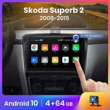 AWESAFE PX9 para Skoda Superb 2 2008-2015 auto Radio Multimedia reproductor de video GPS No 2din 2 din Android 10,0 2GB + 32GB