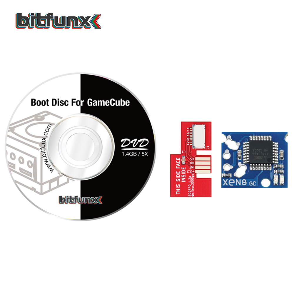 Bitfunx SD2SP2 Adapter Replacement Micro SD Card reader   Swiss Boot Disc Mini DVD  Xeno GC chip for Nintendo Gamecube NGC NTSC