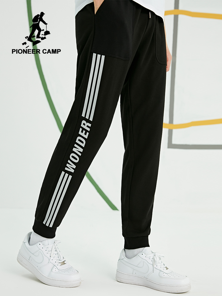 Pioneer Camp 2019 New Men Sweatpants Cotton Sportwear Pants Joggers Striped Track Pants Gyms Clothing AZZ901189