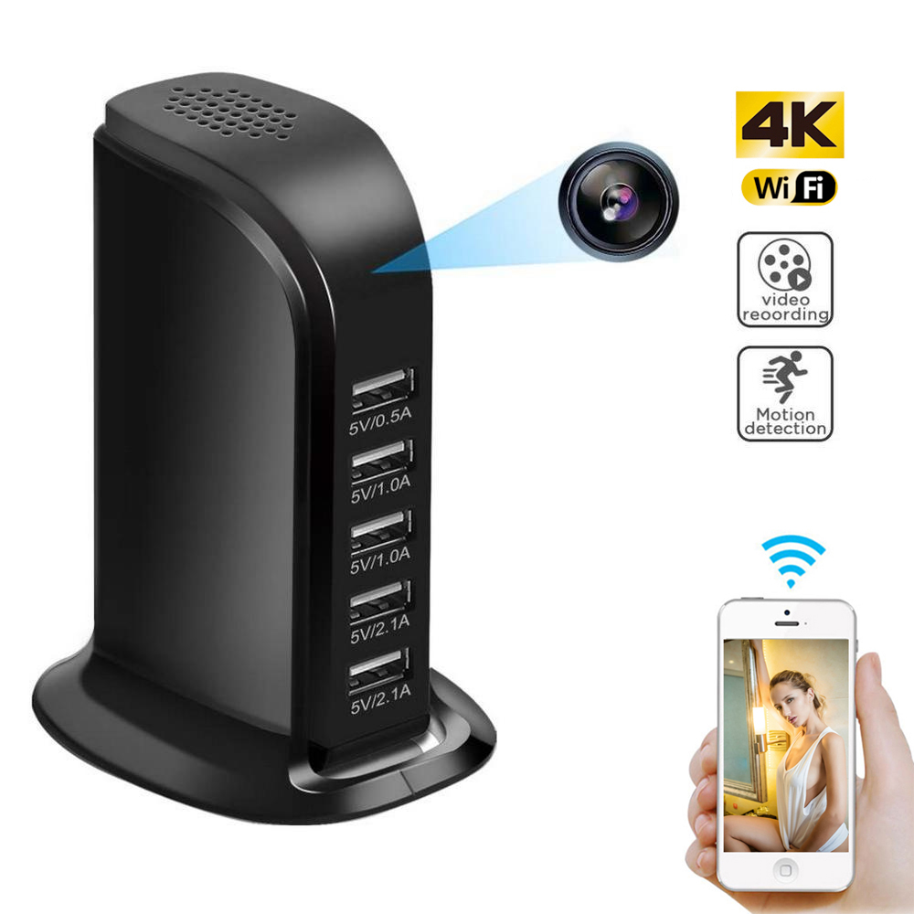 WIFI HD 1080P IP Mini Camera 4k DVR P2P Camcorder Wireless Surveillance Camera USB Wall Charger Camera Video Recorder Hidden