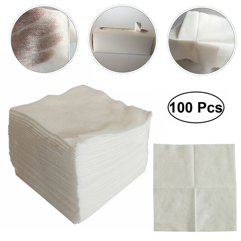 100pcs/pack 10*10cm Gauze Pads Non-woven Sponges Bandages First Aid Wound Care Prevent Wound Bleeding Medical Gauze