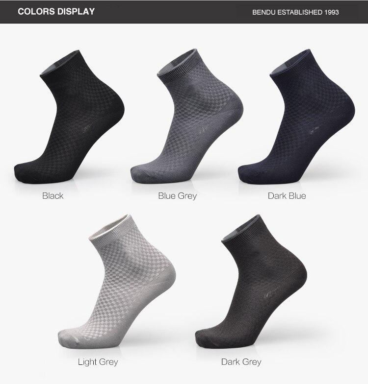 2019 Bendu 5 Pairs / Lot Men Bamboo Socks Brethable Anti-Bacterial Deodorant Brand Guarantee High Quality Guarantee Man Sock