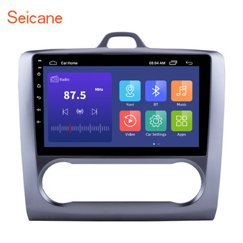 Seicane Android 10.0 2 din Car Radio GPS Navigation For 2004 2005 2006 2007 2008 2009 2010 2011 Ford Focus Exi AT Audio System image