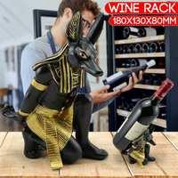 Vintage Wine Rack Wine Holder Shelf Resin Practical Sculpture Wine stand Home Decoration Interior Crafts Christmas Gift