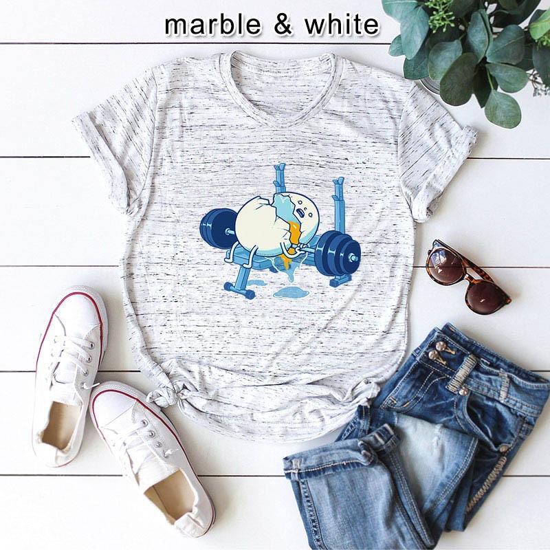 Plus Size S-5XL Funny Egg Print T Shirt Women Shirts 100%Cotton O Neck Short Sleeve Tees Summer T-Shirt Pink Top TShirt Women
