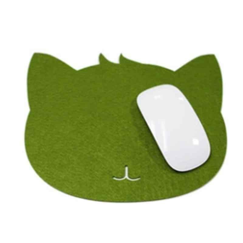 고양이 키티 펠트 마우스 패드 컴퓨터 노트북 게임 마우스 매트 게임 mousemat 패드 다목적 데스크 프로텍터 매트 컵 펠트 코스터