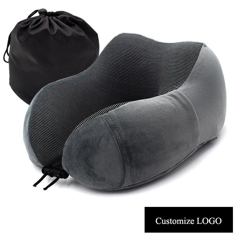 U образная подушка для шеи с эффектом памяти