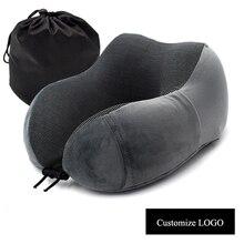 VIP oreiller de cou en forme de U, oreiller doux à rebond, oreiller de voyage à col solide pour soins de santé des vertèbres cervicales livraison directe