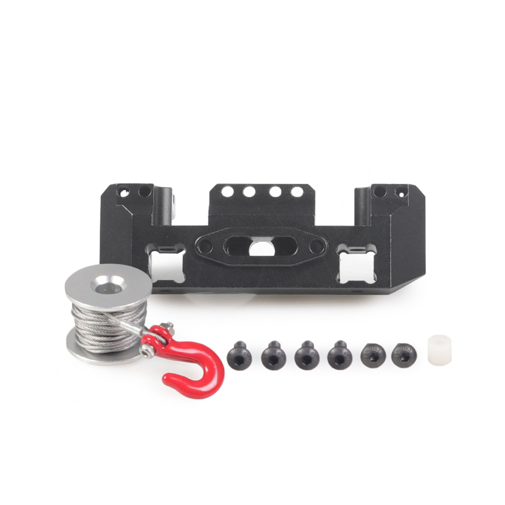 Image 2 - TRX4 CNC Aluminum Multifunctional Front Bumper Mount Servo Winch Brass Mount for 1/10 RC Crawler Traxxas TRX 4 Upgrade PartsParts & Accessories   -
