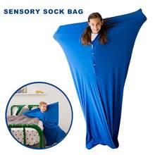 Chaussette sensorielle enveloppante pour tout le corps, pour soulager le Stress et l'anxiété, extensible, sûr, confortable, respirant, sac, jouet amusant pour garçons et filles