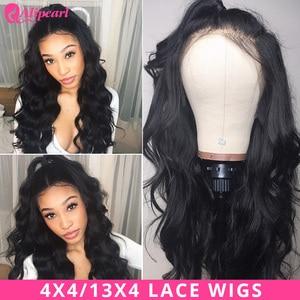Ali Pearl Hair 13x4 Lace Front Human Hair Wigs Brazilian Body Wave 4x4 Closure Wigs For Black Women 150% 180% AliPearl Hair Wig(China)