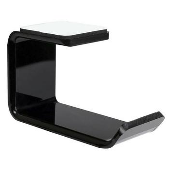 Soporte de pared de soporte para auriculares de acrílico con gancho adhesivo para Exhibidor de escritorio con pegatina de soporte R6S9