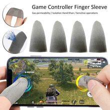 Luva do dedo da tela de toque de 4 pces apropriada para o controlador do jogo luvas da tela de toque do telefone inteligente móvel luvas do dedo