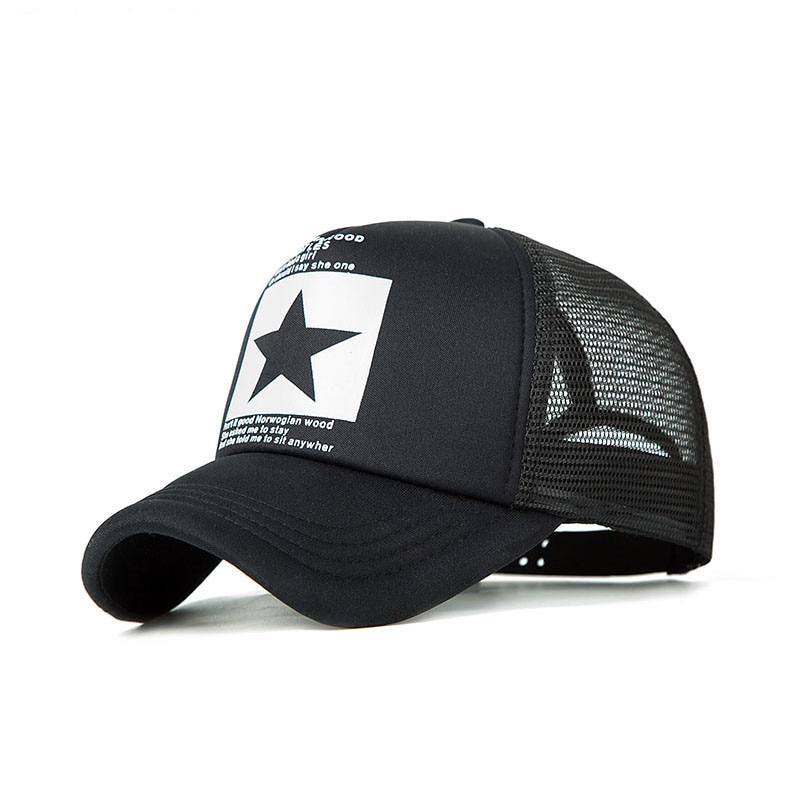 Fashion Brand Pentagram Baseball Cap Women Outdoor Baseball Hat Breathable Men Women Summer Mesh Cap Baseball Caps