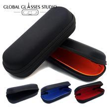Nueva moda gran oferta gafas bolsas de portátil gafas de sol, bolsa de la cremallera gafas duro negro gafas de sol pequeñas Case005
