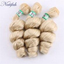 Natifah, свободные волнистые пряди, бразильские волосы, волнистые, 16, 18, 20 дюймов, одна штука, 1, 3, 4 пряди, синтетические волосы для наращивания
