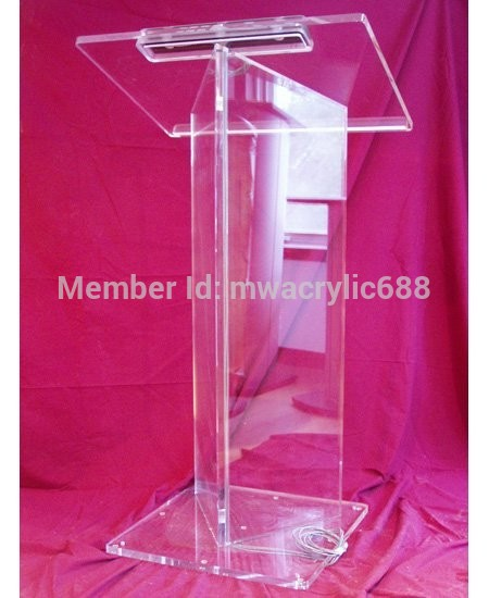Free Shipping High Quality Price Reasonable Beautiful Acrylic Podium Pulpit Lectern Podium Plexiglass