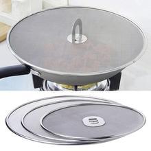 Поступление кухонной маслостойкой крышкой фильтр Складная сковорода с ручкой Крышка разбрызгиватель экран Складная ручка для предотвращения ржавчины