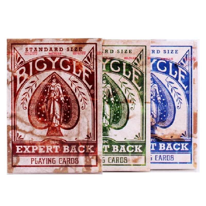 Велосипед Expert Back игральные карты состаренные винтажные колоды USPCC коллекционные
