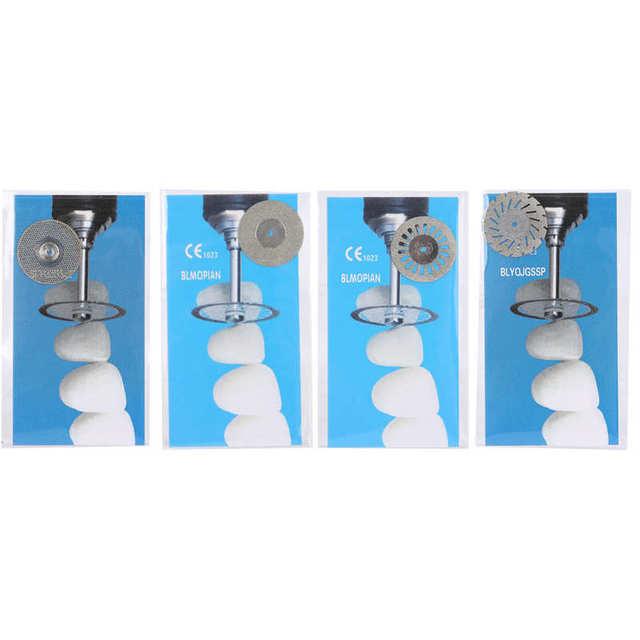 5pcs/Set Dental Double Side Diamond Disc Dental Cutting Polishing Disc Oral Care Tool Teeth Whitening Dentist Equipment Supplies