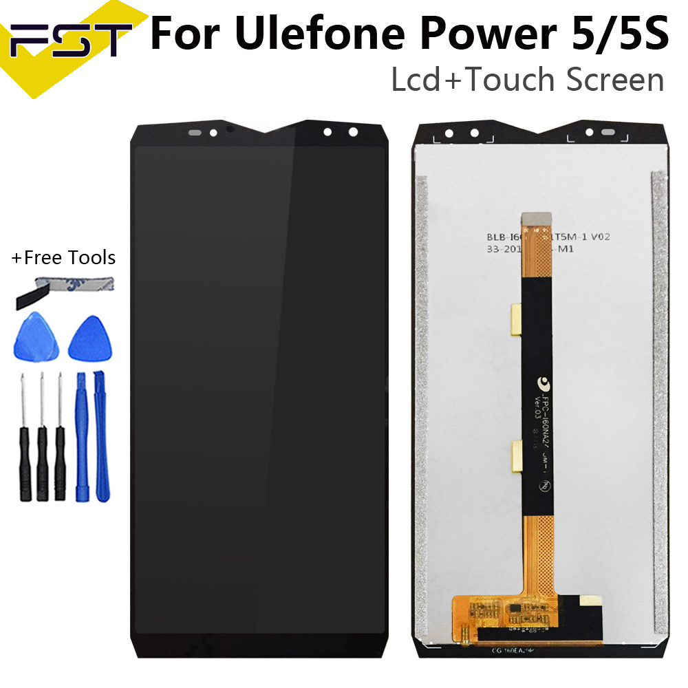 For <font><b>Ulefone</b></font> <font><b>Power</b></font> <font><b>5</b></font> LCD Display and Touch <font><b>Screen</b></font> Digitizer Assembly Replacement +Tool For <font><b>Ulefone</b></font> <font><b>Power</b></font> 5S LCD image