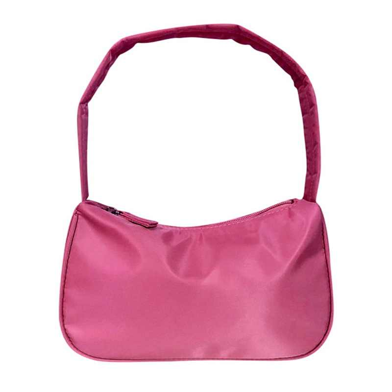 Puimentiua Trendy Vintage Retro moda rahat tasarımcı Mini omuzdan askili çanta naylon çanta kadın kadınlar için marka küçük