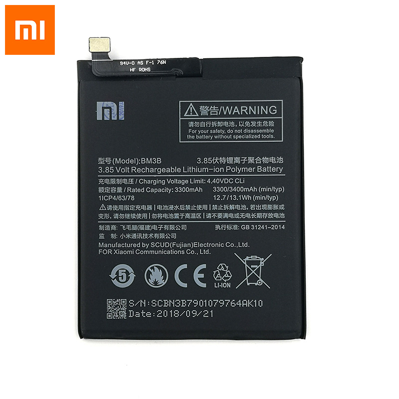Xiaomi 100% Original 3300mAh BM3B <font><b>Battery</b></font> For Xiaomi <font><b>Mi</b></font> <font><b>Mix</b></font> <font><b>2S</b></font> Mobile Phone In Stock Latest Production High Quality <font><b>Battery</b></font> image