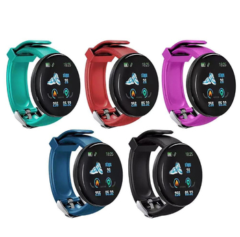 AmylingG D18 Smart watches Waterproof Sports for iphone phone Smartwatch Heart Rate Monitor Blood Pressure Functions For Women image