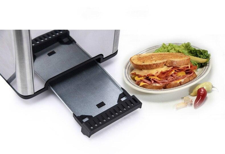 Нержавеющая сталь хлебопечка электрический тостер торт тост сэндвич печь гриль 2 ломтика автоматическая машина для выпечки завтрака ЕС