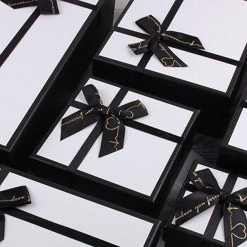 Caja de regalo AVEBIEN de color blanco y negro, bolsa de regalo para regalo, bolsa de regalo para fiestas, regalo para bodas, bolsa de regalo para fiestas, funda de cartón