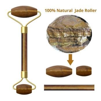 Natural Rose Quartz Jade Roller Slimming Face Massager Lifting Tool Jade Facial Massage Roller Stone Skin Massage With Box 4