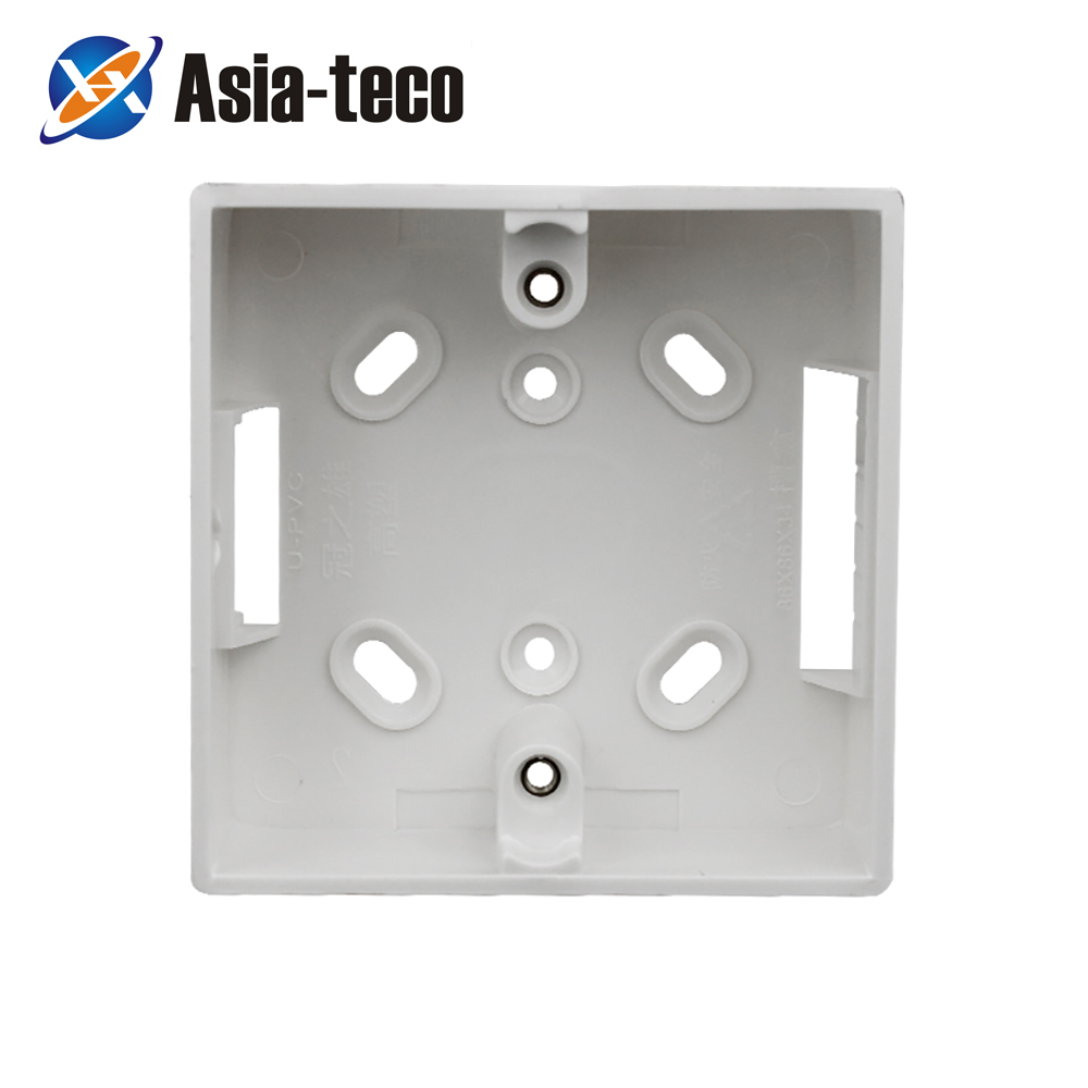 86 Bottom Box Wall Switch Socket Dark Box White Type Switch Socket Base Outfit Junction Box Surface Mount|  - title=